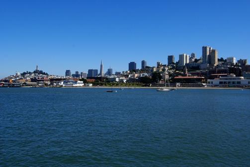 San Francisco depuis la jetée du Pier 39
