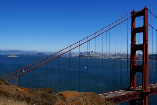 Le downtown de San Francisco depuis Pointa Bonita